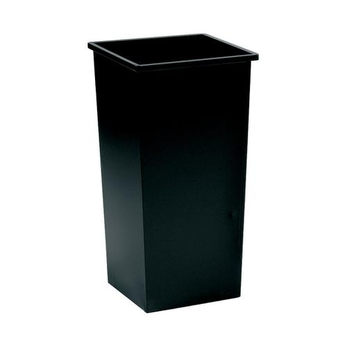 5 Star Facilities Waste Bin Square Metal Scratch Resistant 48 Litres 325x325x642mm Black