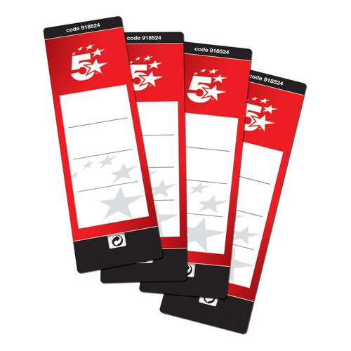5 Star Office Spine Labels for Lever Arch File 1 per Sheet 190x60mm Self Adhesive [10 Labels]