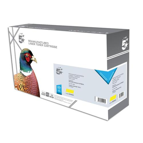 5 Star Office Reman Laser Toner Cartridge Page Life 6000pp Yellow [HP No. 503A Q7582A Alternative]