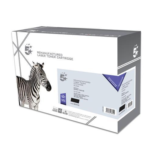 5 Star Office Remanufactured Laser Toner Cartridge Page Life 3000pp Black [Brother TN3130 Alternative]