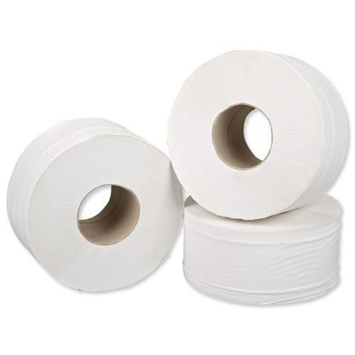 5 Star Facilities Mini Jumbo Toilet Rolls 2-ply Sheet Size 250x92mm 200m [Pack 12]