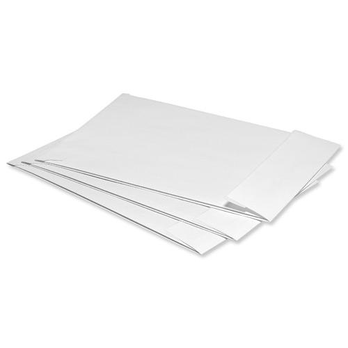 5 Star Office Envelopes Peel and Seal Window Gusset 25mm 120gsm C4 324x229x25mm White [Pack 125]