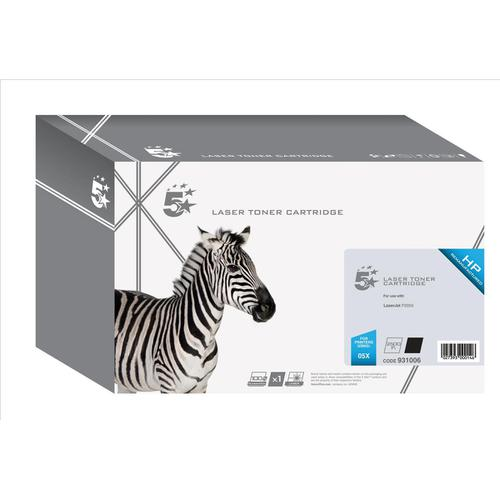5 Star Office Remanufactured Laser Toner Cartridge Page Life 6500pp Black [HP 05X CE505X Alternative]