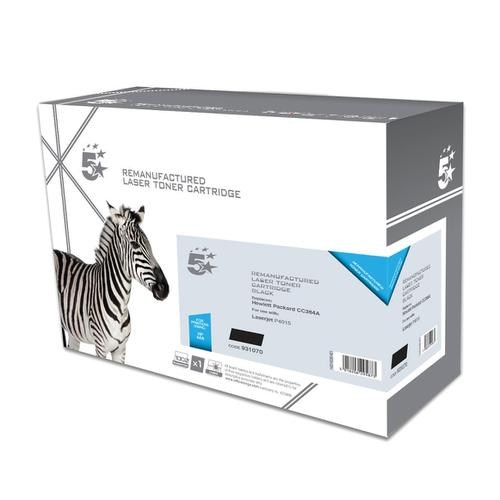 5 Star Office Remanufactured Laser Toner Cartridge Page Life 10000pp Black [HP 64A CC364A Alternative]