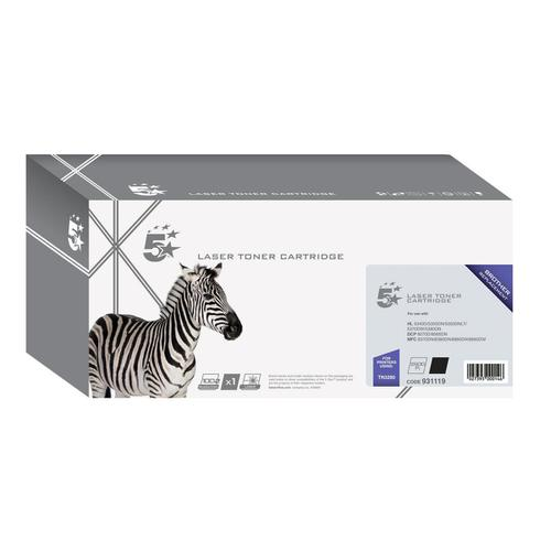 5 Star Office Remanufactured Laser Toner Cartridge HY Page Life 8000pp Black [Brother TN3280 Alternative]