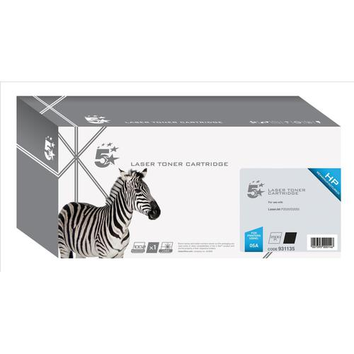 5 Star Office Remanufactured Laser Toner Cartridge 2300pp Black [HP 05A CE505A Alternative]