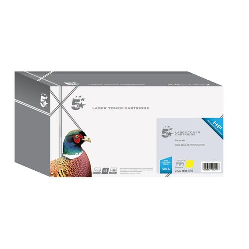 5 Star Office Remanufactured Laser Toner Cartridge 7000pp Yellow [HP 504A CE252A Alternative]