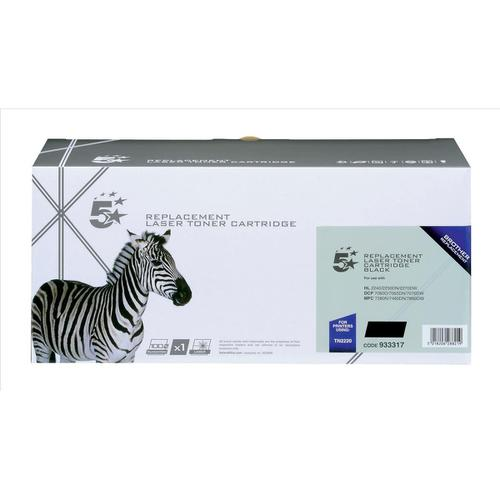 5 Star Office Remanufactured Laser Toner Cartridge Page Life HY 2600pp Black [Brother TN2220 Alternative]