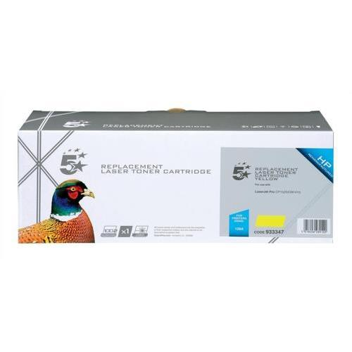 5 Star Office Remanufactured Laser Toner Cartridge 1300pp Yellow [HP 128A CE322A Alternative]