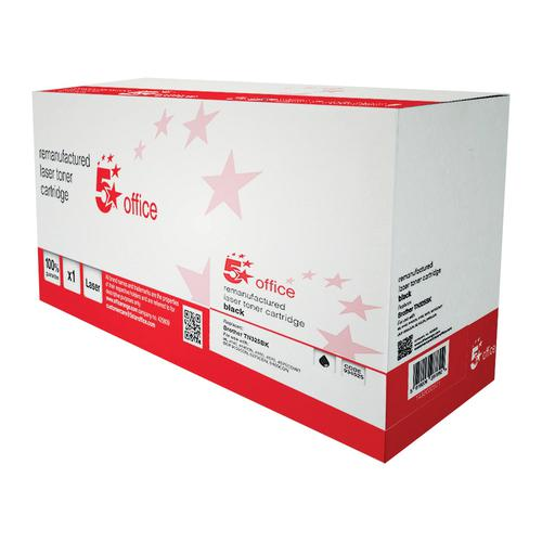 5 Star Office Remanufactured LaserTonerCartridge HY Page Life 4000pp Black [Brother TN325BK Alternative]