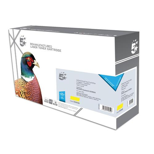 5 Star Office Remanufactured Laser Toner Cartridge Page Life 6000pp Yellow [HP 507A CE402A Alternative]