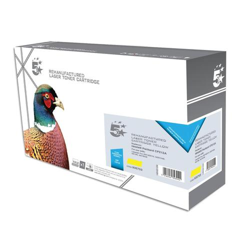 5 Star Office Remanufactured Laser Toner Cartridge Page Life 1800pp Yellow [HP 131A CF212A Alternative]