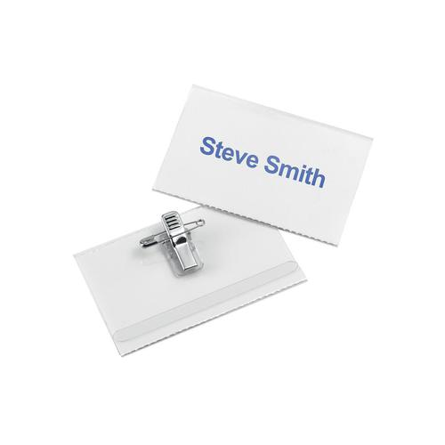 5 Star Office Name Badge with Combi-Clip 54x90mm [Pack 50]