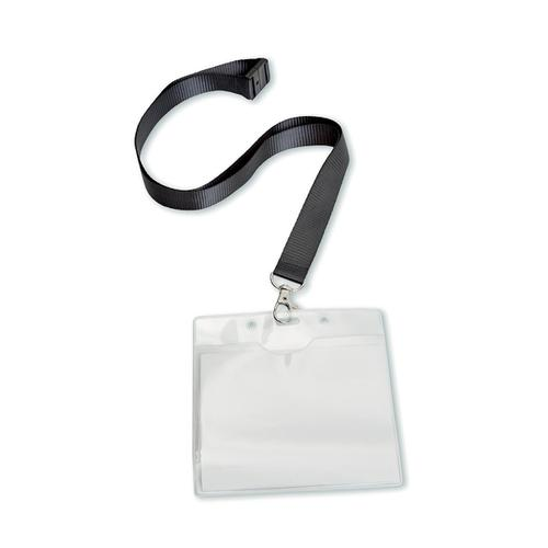5 Star Office PVC Name Badge with Textile Lanyard 110x90mm [Pack 10]