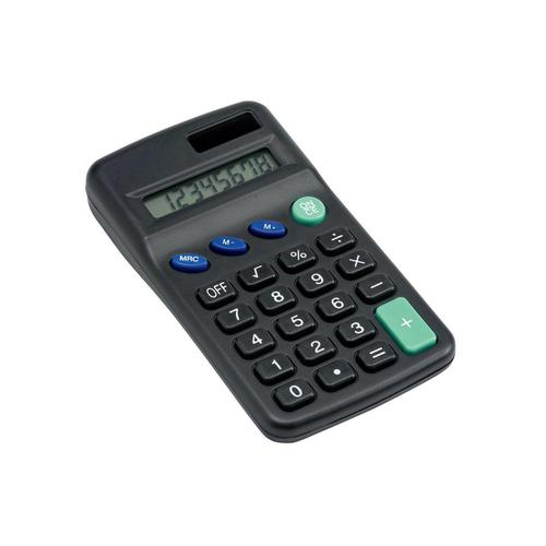 5 Star Office Pocket Calculator 8 Key Display Solar and Battery Power 63x17x113mm Black