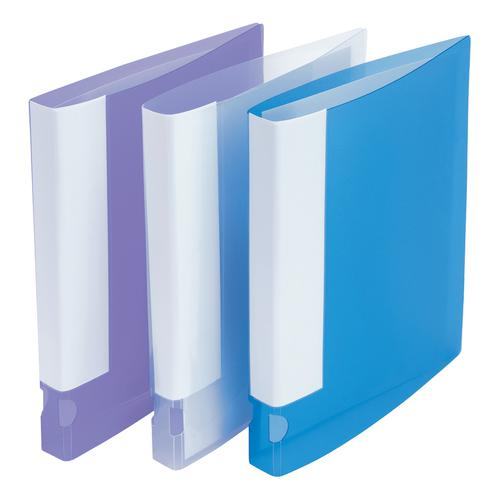 5 Star Office Ring Binder 2 O-Ring Translucent Polypropylene A4 Assorted [Pack 10]