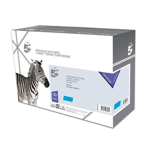 5 Star Office Remanufactured Laser Toner Cartridge Page Life 1400pp [Brother TN241C Alternative] Cyan