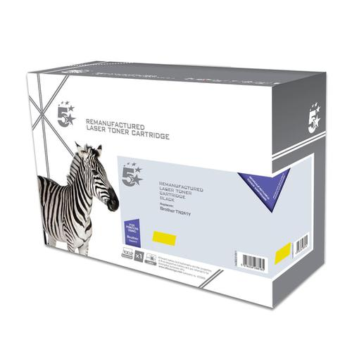 5 Star Office Remanufactured Laser Toner Cartridge Page Life 1400pp [Brother TN241Y Alternative] Yellow