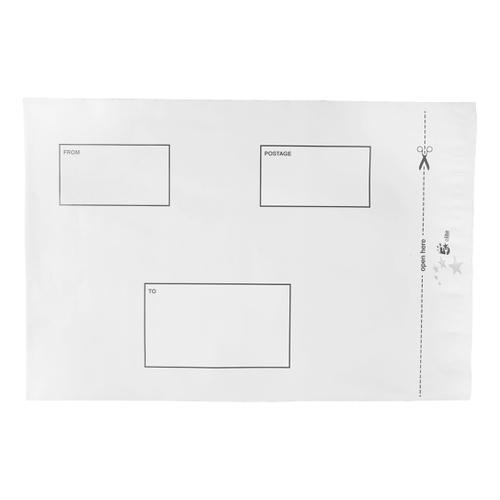 5 Star Elite DX Bags Self Seal Waterproof White 250x320mm &50mm Flap [Pack 100]