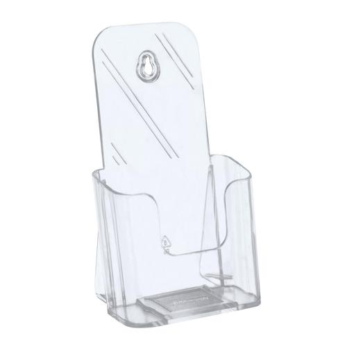 5 Star Office Literature Holder Slanted 1/3 A4 Clear