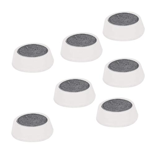 5 Star Office Round Plastic Covered Magnets 20mm White [Pack 10]