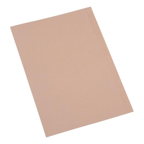 5 Star Eco Kraft Square Cut Folders 170gsm Foolscap Recycled Buff [Pack 100]
