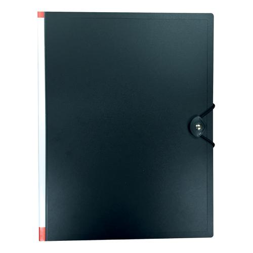 5 Star Office Display Book Hardback Cover Polypropylene 100 Pockets A4 Black
