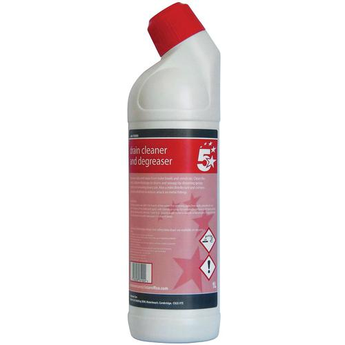 5 Star Facilities Drain Cleaner & Degreaser 1 Litre