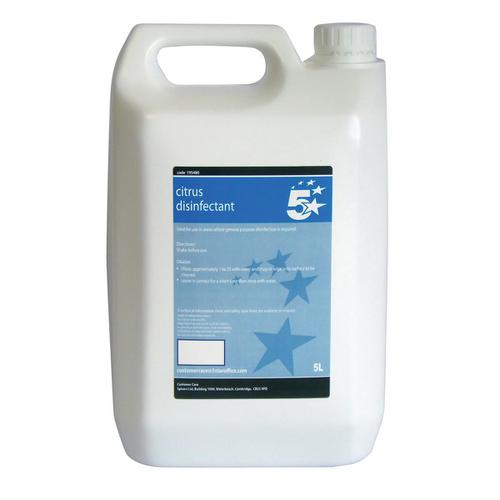 5 Star Facilities Concentrated Citrus Disinfectant 5 Litres