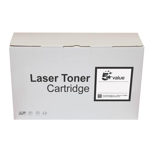 5 Star Value Remanufactured Laser Toner Cartridge Page Life 6000pp Black [HP No. 55A CE255A Alternative]