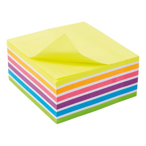 5 Star Office Re-Move Sticky Notes Rainbow Cube 76x76mm 6 Bright Colours 400 Sheets  940554