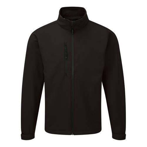 Click Workwear Soft Shell Jacket Water Resistant Windproof Large Black Ref SSJBLL *Approx 3 Day Leadtime*