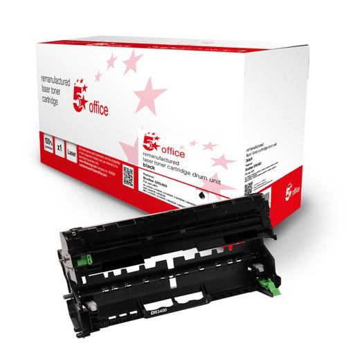 5 Star Office Remanufactured Laser Drum Page Life Black 50000pp [Brother DR3400 Alternative]