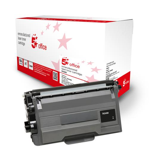 5 Star Office Remanufactured Toner Cartridge Page Life Black 8000pp [Brother TN3480 Alternative]
