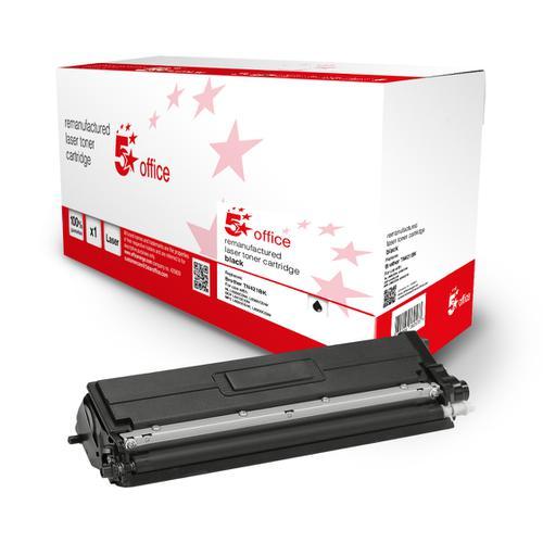 5 Star Office Remanufactured Toner Cartridge Page Life Black 3000pp [Brother TN421BK Alternative]