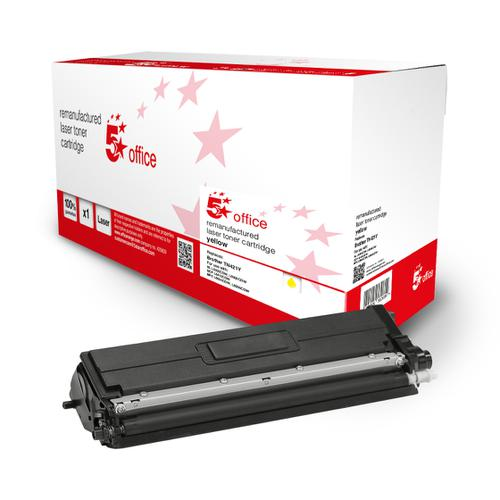 5 Star Office Remanufactured Toner Cartridge Page Life Yellow 1800pp [Brother TN421Y Alternative]