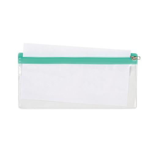 5 Star DL Zip Bag 210x145mm Transparent with Zip Colour Astd [Pack 5]
