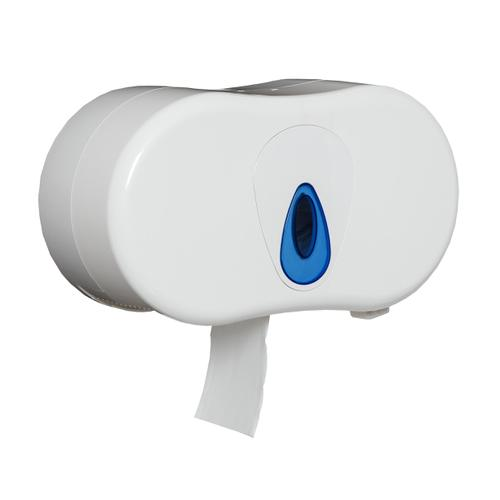 5 Star Facilities Cordless Twin Micro Toilet Roll Dispenser W350xD155xH350mm