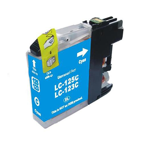 5 Star Value  Remanufactured Inkjet Cartridge Page Life 600pp Cyan [Brother LC123C Alternative]