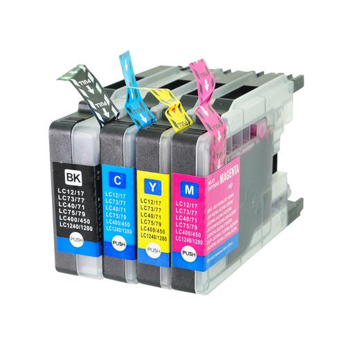 5 Star Value Remanufactured Cartridge Page Life 2400/1200pp HY B/C/M/Y [Brother LC1280XLB Alt] [Pack 4]
