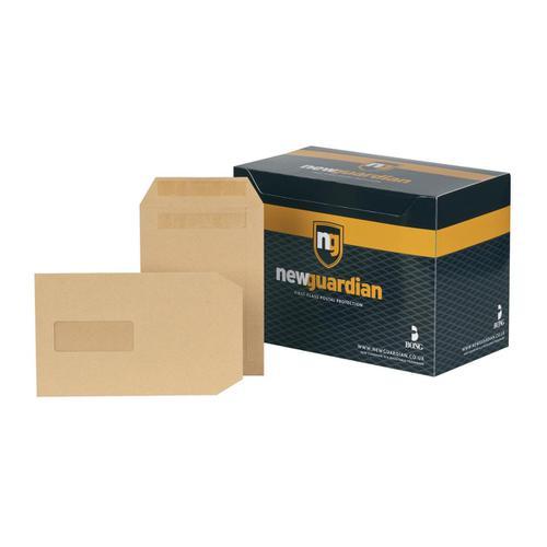 New Guardian Envelopes FSC Pocket Self Seal HvyWgt Wdw 130gsm C5 229x162mm Manilla Ref A23013 [Pack 250]
