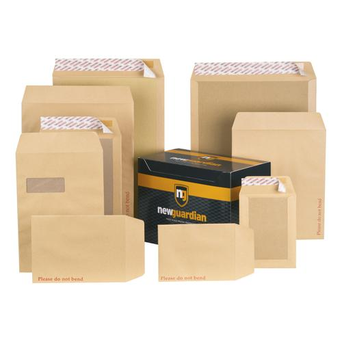 New Guardian Envelopes FSC Hvyweight Board Backed Pocket Window Peel & Seal C4 130gsm Manilla [Pack 125]