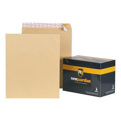 New Guardian Envelopes FSC Pocket Peel & Seal Heavyweight 130gsm 444x368mm Manilla Ref B27713 [Pack 125]