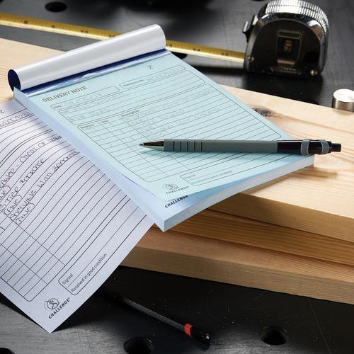 Challenge Duplicate Book Carbonless Invoice Single VAT/Tax 100 Sets 210x130mm Ref 100080412 [Pack 5]