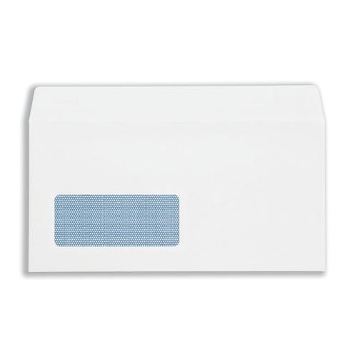 Plus Fabric Envelopes PEFC Wallet Self Seal Window 120gsm DL 220x110mm White Ref C23370 [Pack 250]