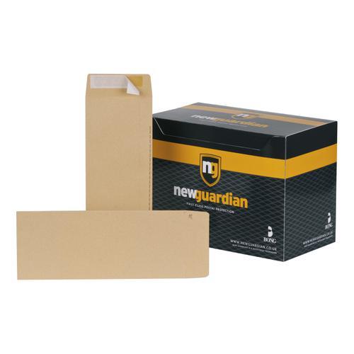 New Guardian Envelopes FSC Pocket Peel & Seal Heavyweight 130gsm 305x127mm Manilla Ref C27603 [Pack 250]