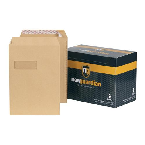 New Guardian Envelopes Pocket Peel & Seal Window 130gsm C4 324x229mm Manilla Ref F24203 [Pack 250]