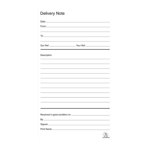 Challenge Duplicate Book Carbonless Delivery Book 100 Sets 210x130mm Ref 100080470 [Pack 5]