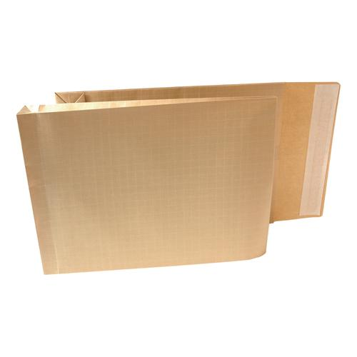 New Guardian Armour Envelopes 380x280mm Gusset 50mm Peel&Seal 130gsm Kraft Manilla Ref H28313 [Pack 100]