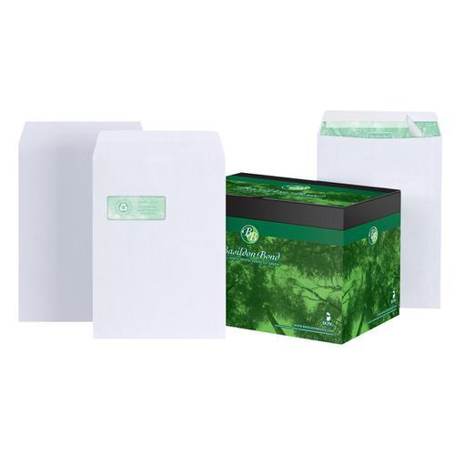 Basildon Bond Envelopes FSC Recycled Pocket P&S Window 120gsm C4 White Ref K80121 [Pack 250]